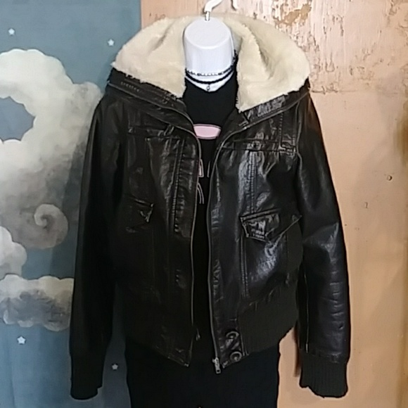 Xhilaration Jackets & Blazers - Cool faux-leather bomber jacket